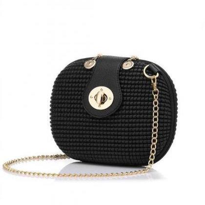 Classic Leather Chain Women Shoulde..